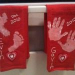 Handprint Dish Towels, a Christmas tradition- Guest Post By Ally