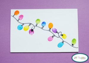 Thumbprint Christmas Lights Craft