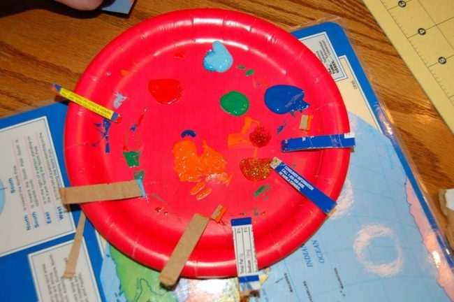 easy kids paint art project