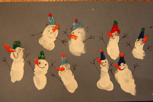 Thumbprint Snowman Art