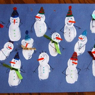 Fingerprint Snowman Collage- Guest Post from I Heart Crafty Things