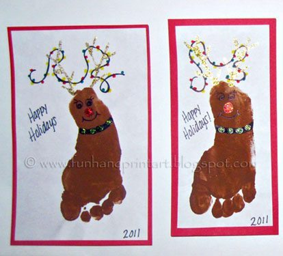 How to make the Reindeer Footprints
