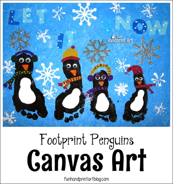 Penguin Footprint Canvas Keepsake
