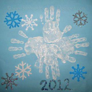 Handprint Snowflake Art