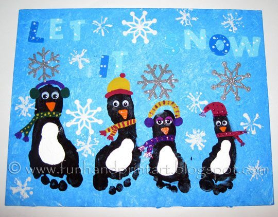 Christmas Penguin Arts And Crafts