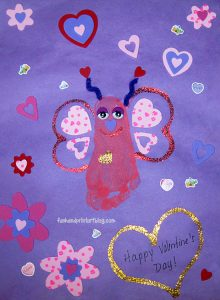 Cutest Footprint Love Bug Craft for Valentine's Day