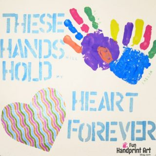 Mother's Day Handprint Art & Saying