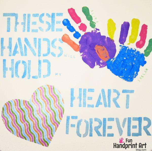 Mother's Day Handprint Art & Saying
