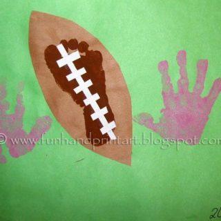Handprint & Footprint Football Craft