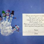 Handprint Snowman with Poem
