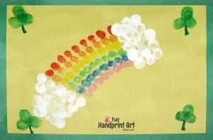Fingerprint Rainbow St Patrick's Day Craft