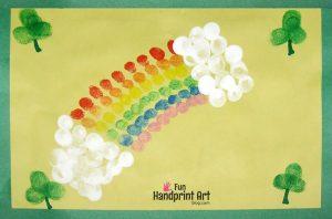 Fingerprint Rainbow St Patrick's Day Craft