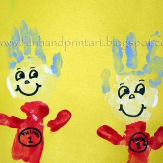 Handprint Thing 1 & Thing 2 {Dr. Seuss Craft}