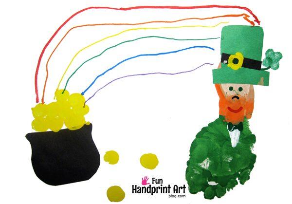 Leprechaun Footprint Craft for St Patrick's Day