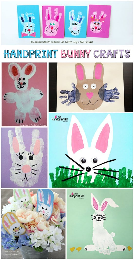 Easter and Spring Crafts: Handprint and Footprint Easter Bunny