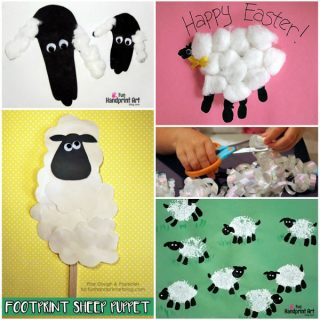 Make Handprint and Fingerprint Sheep and Lamb Crafts with Preschoolers and Kindergartners - List of 20 Spring and Easter Craft Ideas