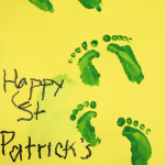 Wee Little Leprechaun Footprints - Kids Craft