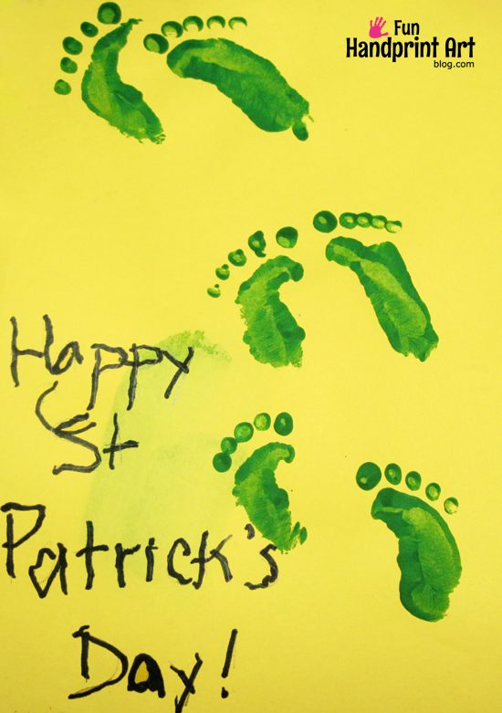 photo regarding Leprechaun Feet Printable titled Footprint Leprechaun Craft Wee Leprechaun Footprints