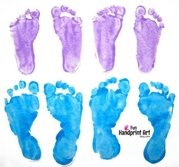 Easter Footprint Craft for Kids
