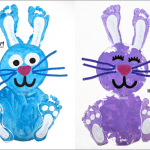 Paper Plate Easter Craft: make a footprint bunny!