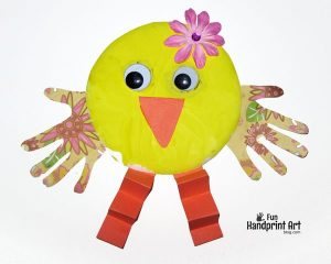 Spring Paper Plate Chick Craft