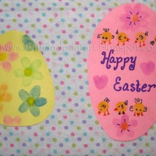 Thumbprint Easter Egg Craft
