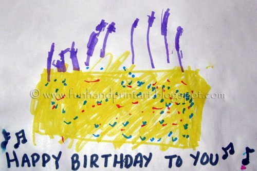 Thumbprint Balloons Birthday Card Fun Handprint Art