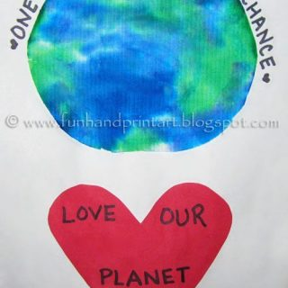 Kids Handprint Earth Day Craft