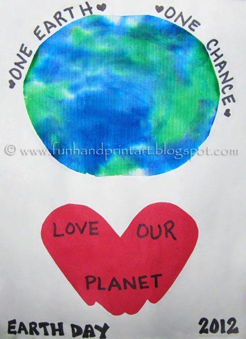 Kids Earth Day Handprint Craft