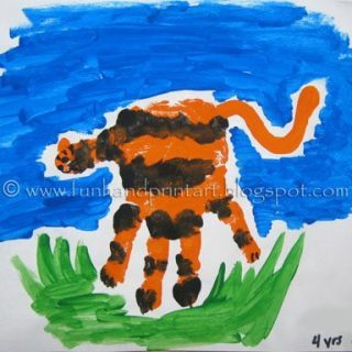 Handprint Tiger Craft