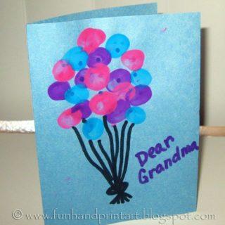 Thumbprint Balloons – Birthday Card