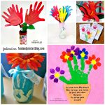 14 Handprint Flower Crafts for Mother's Day {Round Up #4}