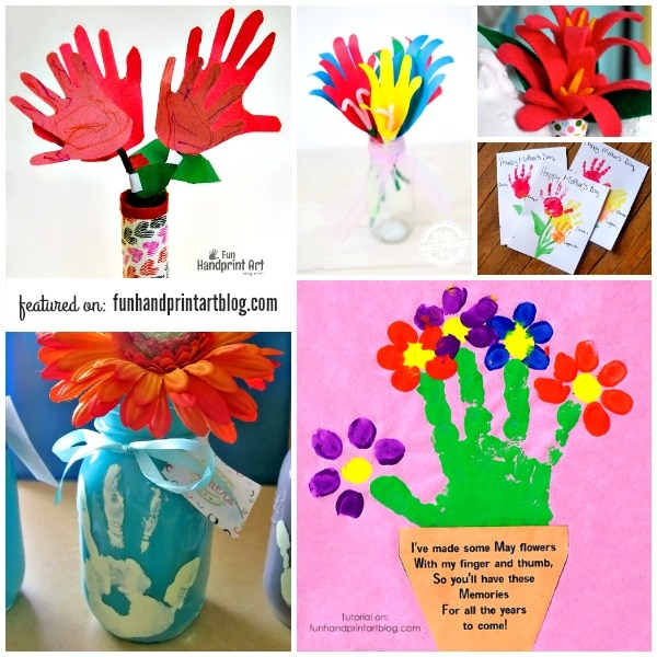 14 Pretty Handprint Flower Crafts Moms Will Love