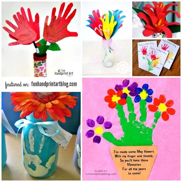 14 Pretty Handprint Flower Crafts Moms Will Love