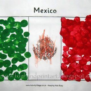Fingerprint Flag of Mexico Craft – Bandera de México