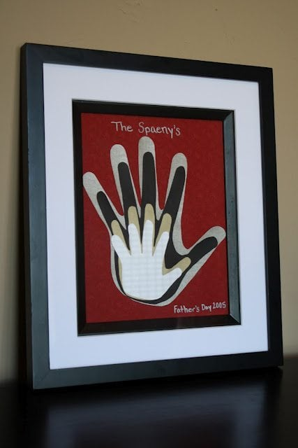 Framed Family Handprints Wall Decor