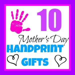 Mother's Day Handprint Crafts from Kids