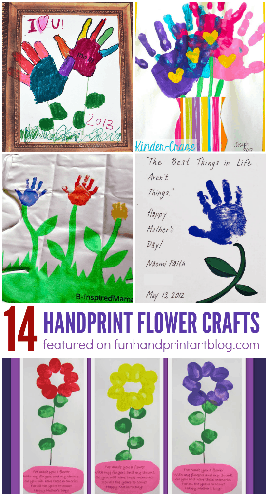 Mother's Day Handprint Flower Crafts