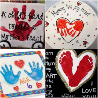 10 Unique Mother's Day Handprint snd Footprint Crafts