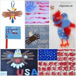 Patriotic Kids Crafts: Handprint American Flags & Eagles