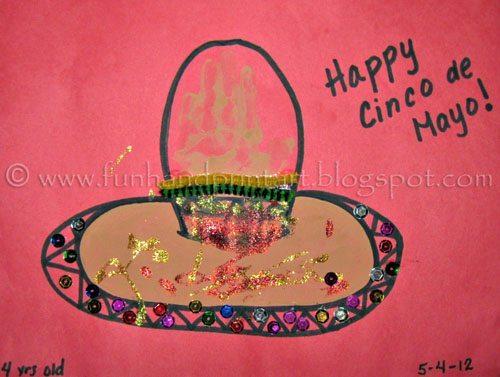 Cinco de Mayo Handprint Sombrero Craft Idea For Kids