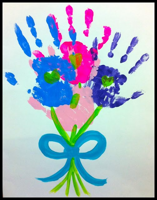 14 handprint flower crafts for mother s day   fun handprint art