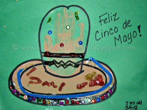 Handprint Cinco de Mayo Kids Craft