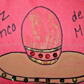 Handprint Sombrero Cinco de Mayo Craft