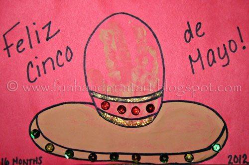 How to make a Handprint Sombrero Craft for Cinco de Mayo