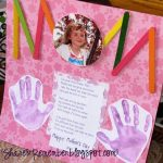 MOM Scrapbook Page photo Keepsake and Handprint Poem