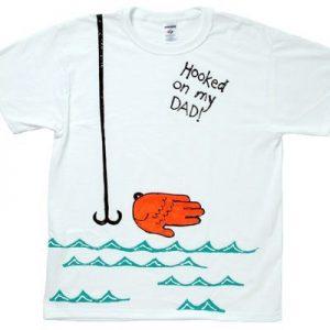 Hooked on my Dad Handprint fish shirt