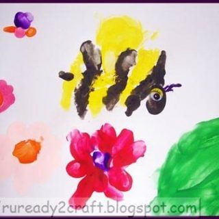 Handprint Busy Bee Craft – Guest Post from R U Ready 2 Craft?