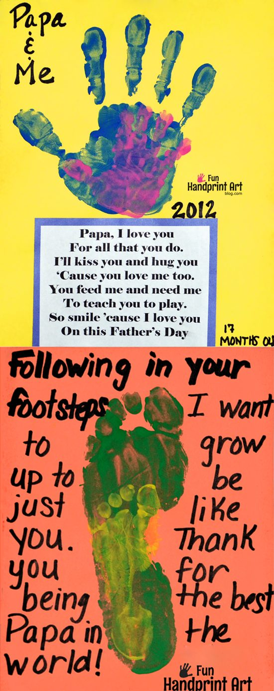 Daddy & Me Crafts for Father's Day - Cute Poems