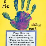 Daddy & Me Handprint Craft for Father's Day